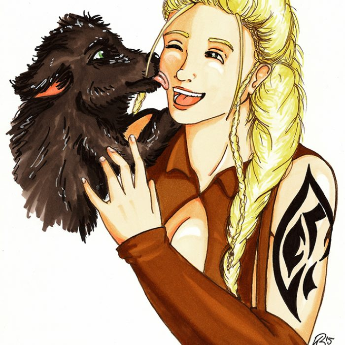 Lialin with Puppy