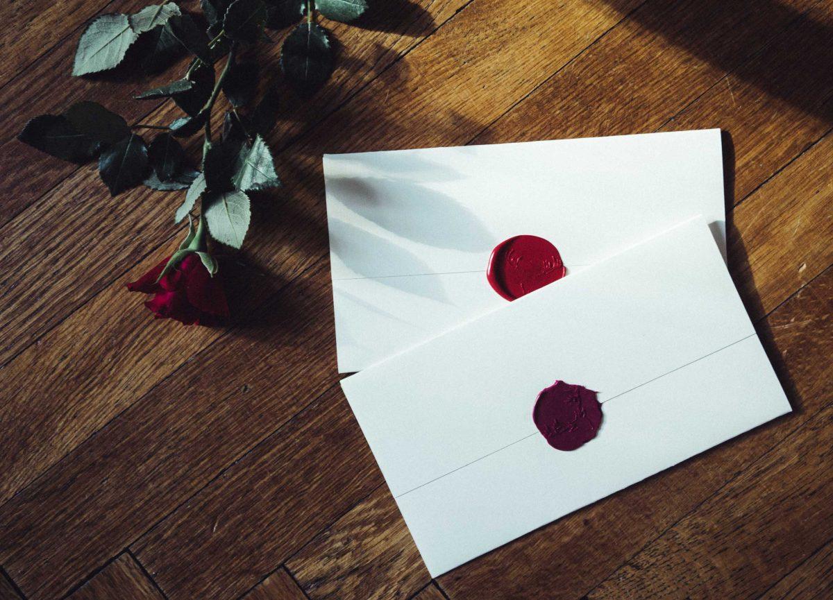 J & P Wedding Envelopes with Wax Seal