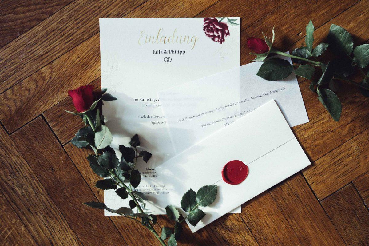 J & P Wedding Invitation Set