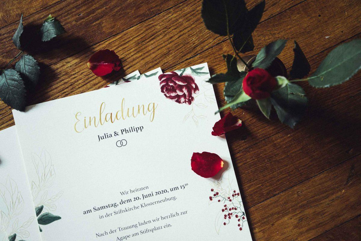 J & P Wedding Invitation