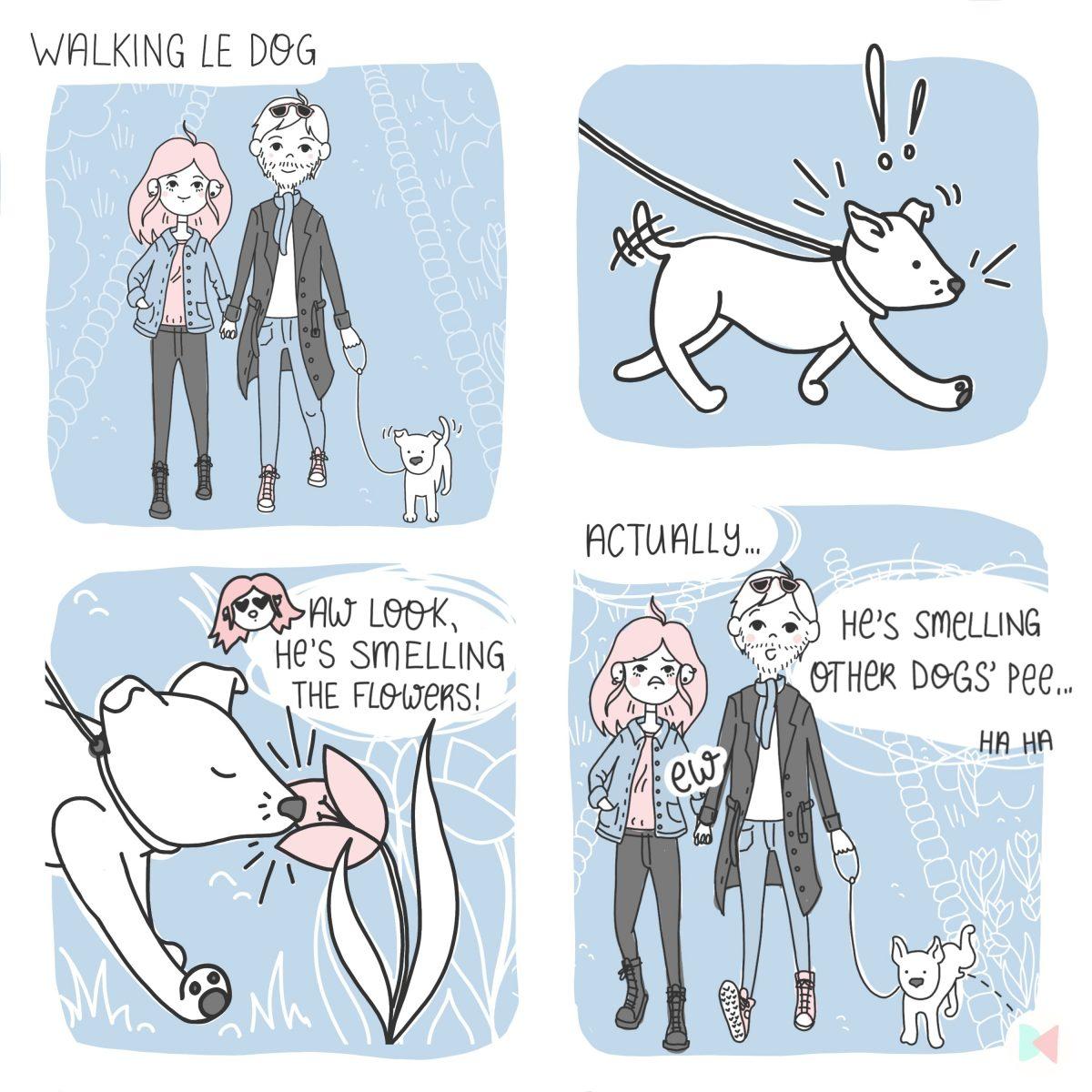 Dog Walking Comic