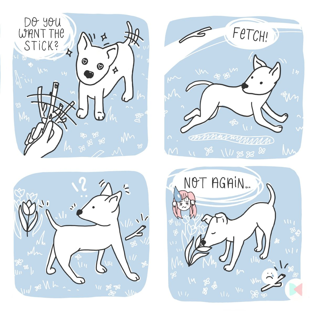 Stick Fetching Comic