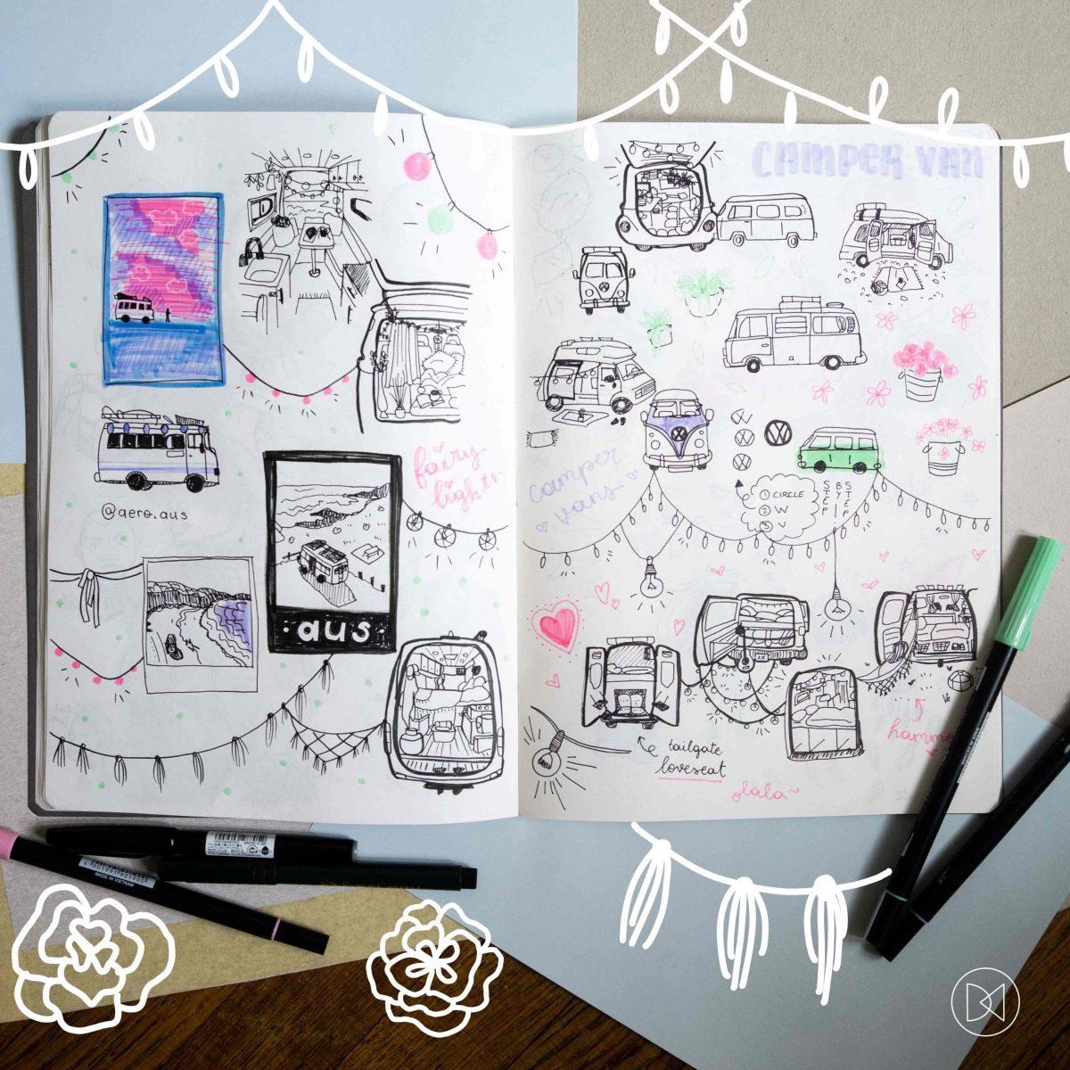 Van Life Sketches